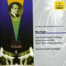 Welte-Mignon Mystery Vol.5 - Max Reger, CD