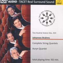 Johannes Brahms (1833-1897): Streichquartette Nr.1-3, 2 DVD-Audio