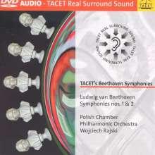 Ludwig van Beethoven (1770-1827): Symphonien Nr.1 & 2, DVD-Audio