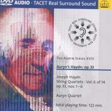 Joseph Haydn (1732-1809): Streichquartette Nr.37-42 (op.33 Nr.1-6), DVD-Audio