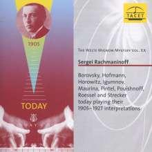 Welte-Mignon Mystery Vol.20 - Sergei Rachmaninoff, CD