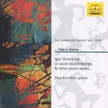Igor Strawinsky (1882-1971): Le Sacre du Printemps (Fassung für Klavier 4-händig), CD