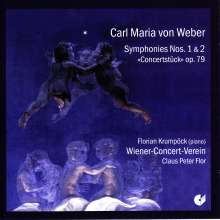 Carl Maria von Weber (1786-1826): Symphonien Nr.1 & 2, CD