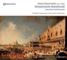 Johann Rosenmüller (1619-1684): Venezianische Abendmusik (Lateinische Psalmkonzerte), CD