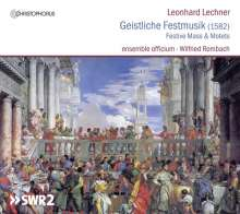Leonhard Lechner (1553-1606): Geistliche Festmusik, CD