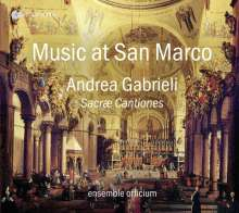 Andrea Gabrieli (1510-1586): Sacrae Cantiones (Venedig, 1565) - Music at San Marco, CD