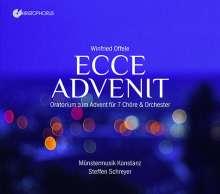 Winfried Offele (geb. 1939): Ecce Advenit (Oratorium zum Advent für 7 Chöre & Orchester), 2 CDs