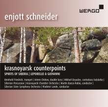 """Enjott Schneider (geb. 1950): Orchestermusik """"Krasnoyarsk Counterpoints"""", CD"""