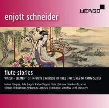 """Enjott Schneider (geb. 1950): Werke für Flöte & Orchester - """"Flute Stories"""", CD"""