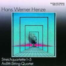 Hans Werner Henze (1926-2012): Streichquartette Nr.1-5, 2 CDs