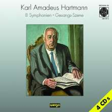 Karl Amadeus Hartmann (1905-1963): Symphonien Nr.1-8, 4 CDs