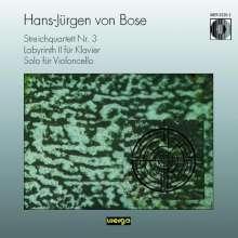 Hans-Jürgen von Bose (geb. 1953): Streichquartett Nr.3, CD