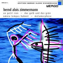 Bernd Alois Zimmermann (1918-1970): Metamorphose (Filmmusik), CD