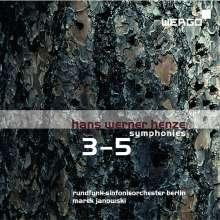 Hans Werner Henze (1926-2012): Symphonien Nr.3-5, CD