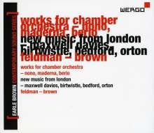 Earle Brown - Contemporary Sound Series Vol.2, 3 CDs