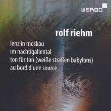 Rolf Riehm (geb. 1937): Au Bord d'une Source für Blockflöte, Orchester & Elektronik, CD