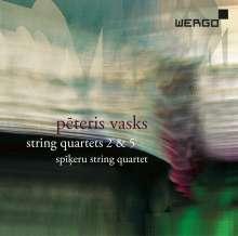 Peteris Vasks (geb. 1946): Streichquartette Nr.2 & 5, CD