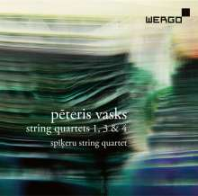 Peteris Vasks (geb. 1946): Streichquartette Nr.1,3,4, CD