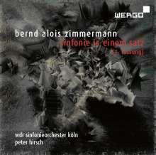 Bernd Alois Zimmermann (1918-1970): Symphonie in einem Satz (1. Fassung), CD