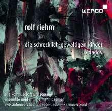 Rolf Riehm (geb. 1937): Die schrecklich-gewaltigen Kinder für Koloratursopran & großes Ensemble, CD