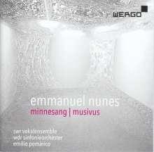 Emmanuel Nunes (1941-2012): Minnegesang, CD