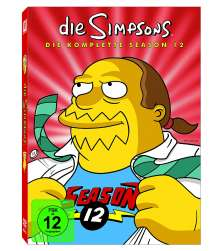 Die Simpsons Season 12, 4 DVDs