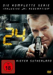 24 Season 1-8 (Gesamtbox), 49 DVDs