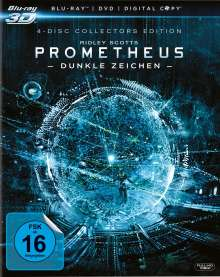 Prometheus - Dunkle Zeichen (3D + 2D Blu-ray + DVD + Digital Copy), 4 Blu-ray Discs