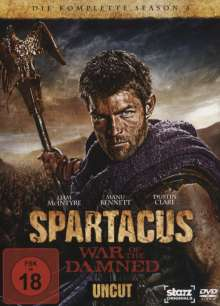 Spartacus Season 3: War of the Damned, 4 DVDs