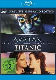 Avatar / Titanic (3D & 2D Blu-ray), 4 Blu-ray Discs