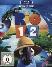 Rio 1 & 2 (Blu-ray), 2 Blu-ray Discs