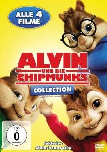 Alvin und die Chipmunks 1-4, 5 DVDs