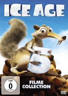 Ice Age 1-5, 5 DVDs