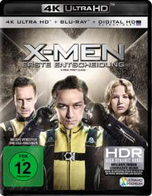 X-Men: Erste Entscheidung (Ultra HD Blu-ray & Blu-ray), 1 Ultra HD Blu-ray und 1 Blu-ray Disc