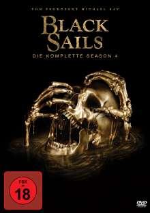Black Sails Staffel 4 (finale Staffel), 4 DVDs
