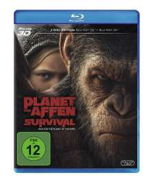 Planet der Affen: Survival (3D & 2D Blu-ray), 2 Blu-ray Discs