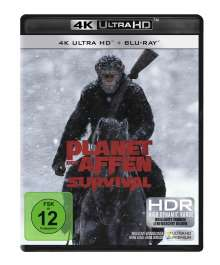 Planet der Affen: Survival (Ultra HD Blu-ray & Blu-ray), 1 Ultra HD Blu-ray und 1 Blu-ray Disc