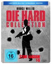 Stirb langsam 1-5 (Limitierte Ausgabe) (Blu-ray im Steelbook), 5 Blu-ray Discs