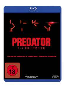 Predator 1-4 Collection (Blu-ray), 4 Blu-ray Discs