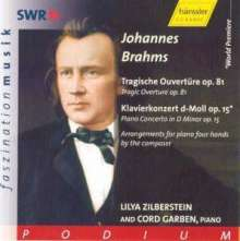 Johannes Brahms (1833-1897): Klavierkonzert Nr.1 (Version für Klavier 4-händig), CD