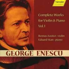 George Enescu (1881-1955): Sämtliche Werke für Violine & Klavier Vol.1, CD