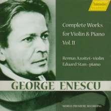George Enescu (1881-1955): Sämtliche Werke für Violine & Klavier Vol.2, CD