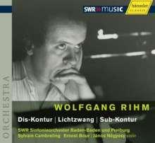 Wolfgang Rihm (geb. 1952): Dis-Kontur für großes Orchester, CD