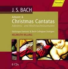 Johann Sebastian Bach (1685-1750): Kantaten BWV 36,40,57,61-65,91,110,121-123,132,133,151,191, 6 CDs