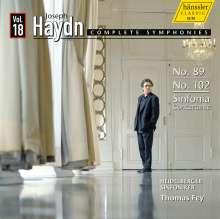 Joseph Haydn (1732-1809): Symphonien Nr.89,102,105, CD