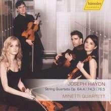 Joseph Haydn (1732-1809): Streichquartette Nr.66,74,79, CD