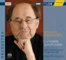 Johannes Brahms (1833-1897): Symphonien Nr.1-4, 3 Super Audio CDs