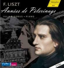 Franz Liszt (1811-1886): Annees de Pelerinage (Ges.-Aufn.), 3 CDs