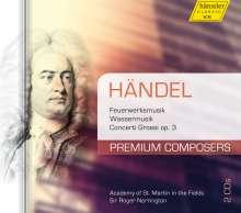 Georg Friedrich Händel (1685-1759): Feuerwerksmusik HWV 351, 2 CDs