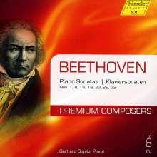 Ludwig van Beethoven (1770-1827): Klaviersonaten Nr.1,8,14,18,23,26,32, 2 CDs